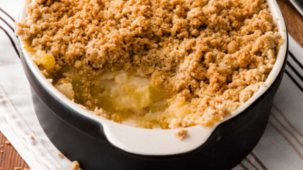DESSERT - apple crumble